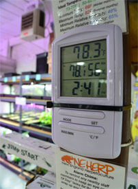 Digital Two Zone Probe Thermometer For Indoor Greenhouse