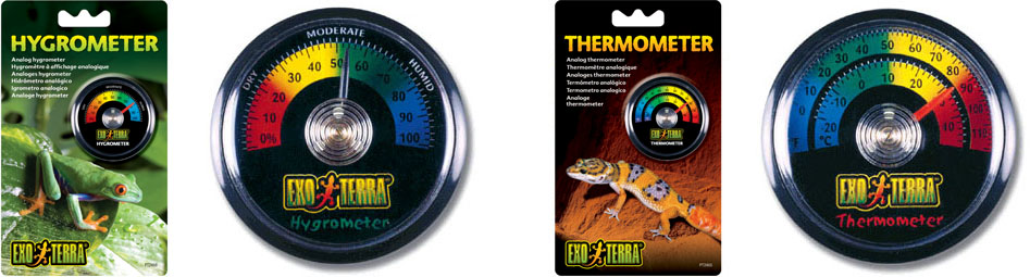 Exo Terra Analog Thermometers & Hygrometers