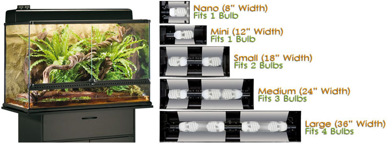 Exo Terra Day and Night Light Fixture 24 LED Large