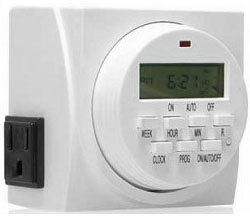 Timer - Digital 15A 24 Hour Dual Outlet