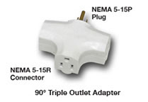 Tri Tap Outlet Adapter