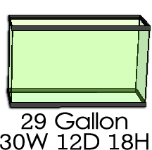 Neherp vivarium builder select aquarium size for 29 gallon fish tank dimensions