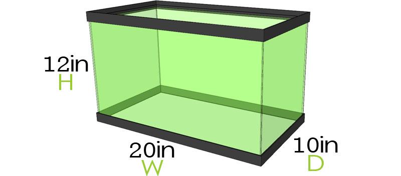 10 Gallon Aquarium Dimensions