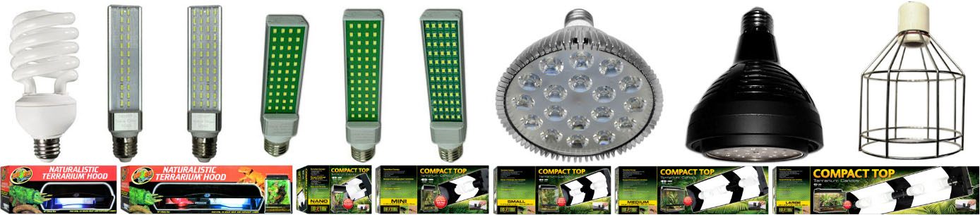 NEHERP Vivarium Lighting Kit Components